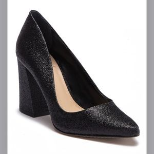 Vince Camuto Talise black sparkly heels